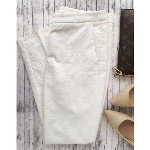 Saint Tropez West White Lace Overlay Pants